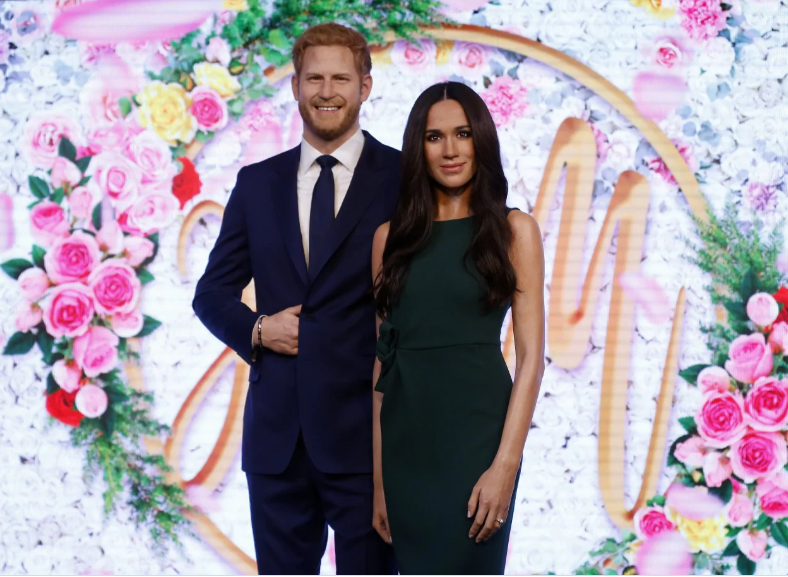 Prince Harry and Meghan Markle's wax figures officially removed from Madame Tussauds Royal Family display in London (Photos)