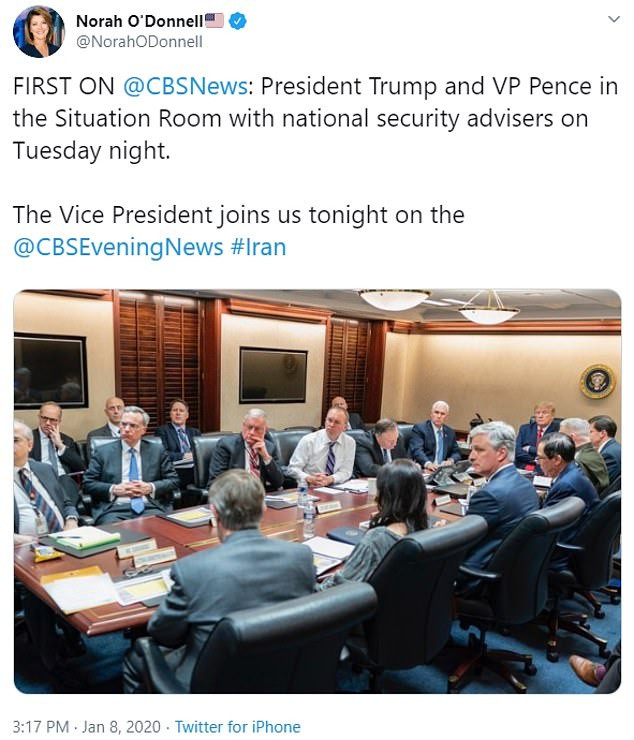See photo of Donald Trump in the Situation Room after Iran launches missiles at U.S. forces in Iraq