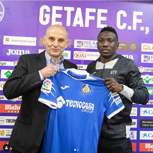 Super Eagles star Oghenekaro Etebo joins Getafe on loan (photos)