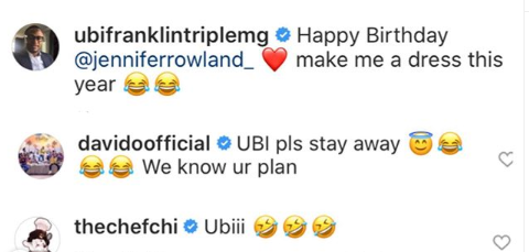 Ubi please stay away, we know your plan - Davido jokingly tells Ubi Franklin as he wishes Chioma