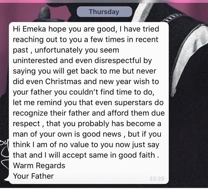 Blaqbonez calls out his absentee Dad who reached out to him after he got
