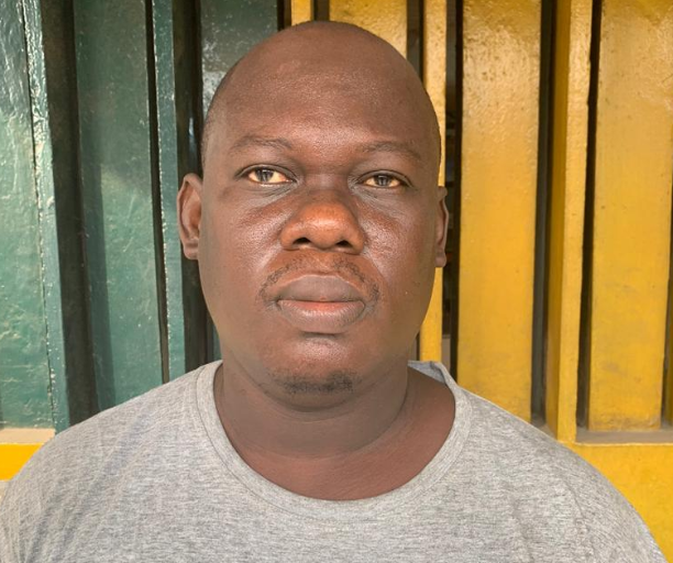 Car wash operator arrested after pushing his neighbor to his death during an argument in Lagos (photo)