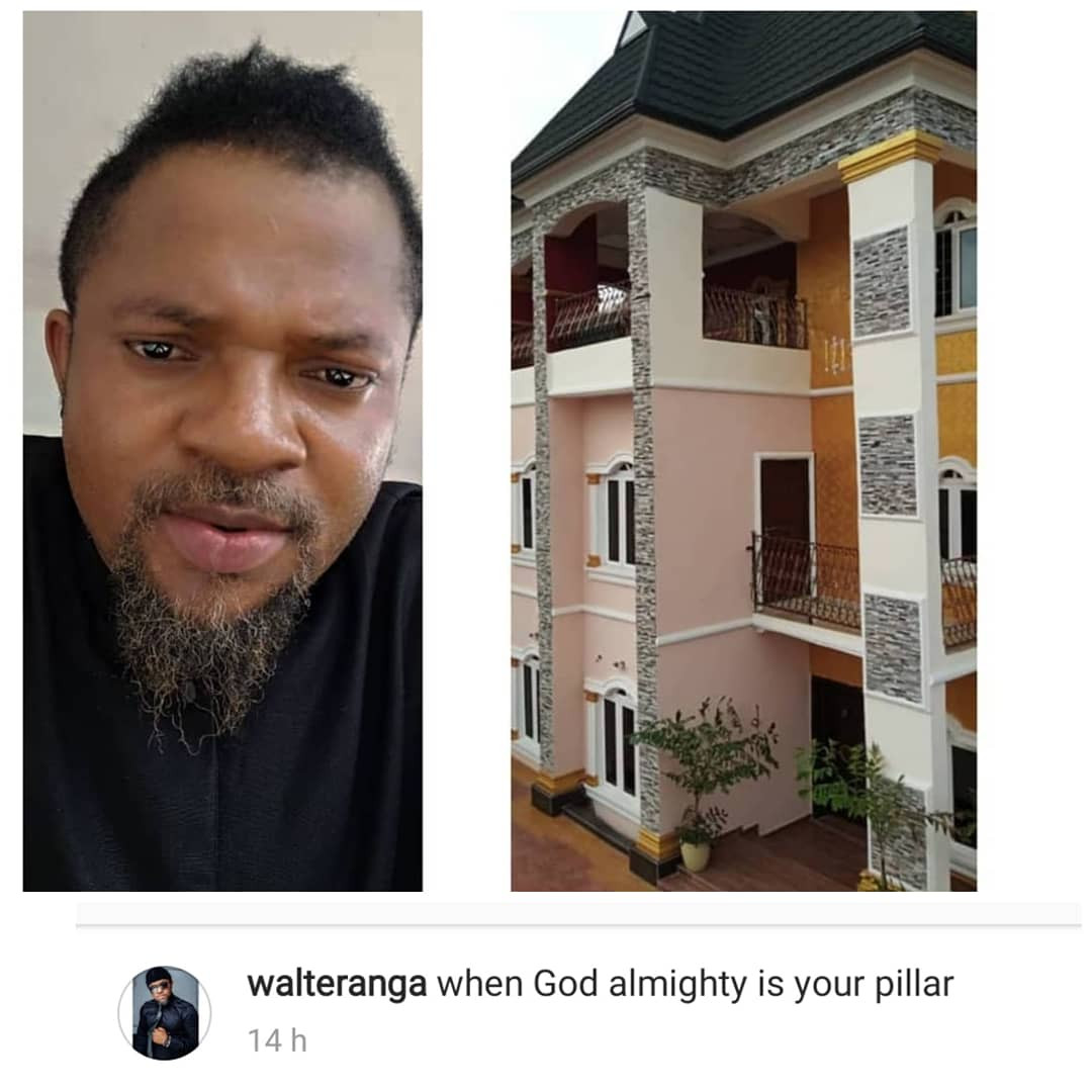 Actor, Walter Anga, erects breathtaking two storey building (photos/video)