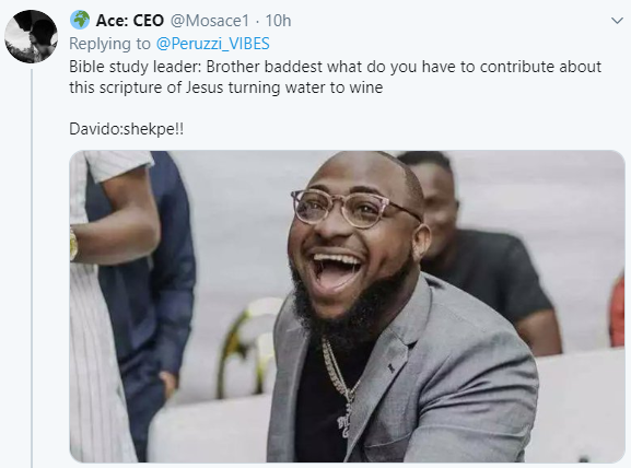 Nigerians react after Davido shares video of himself and BRed attending Bible study in a church