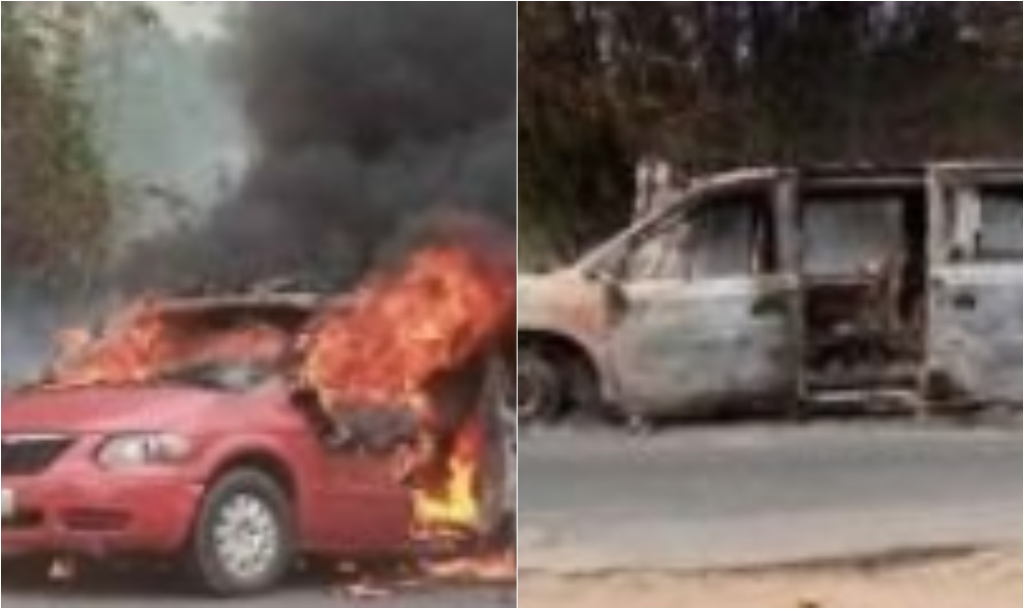 Ambulance conveying corpse of Catholic Priest's mother gutted by fire (photos)