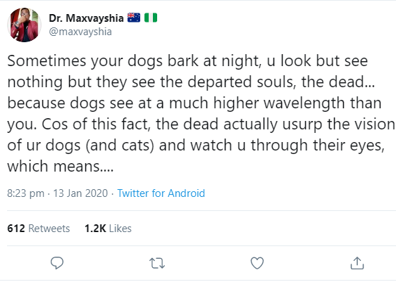 """The dead are everywhere"" Nigerian medical doctor shares spooky explanation of how dead people use bodies of humans and animals to operate"