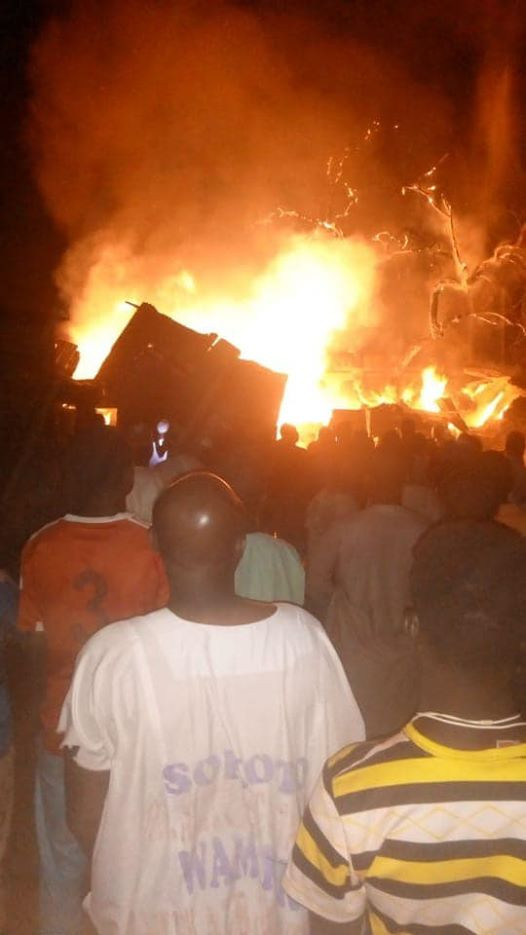 Fire guts market in Sokoto (photos)