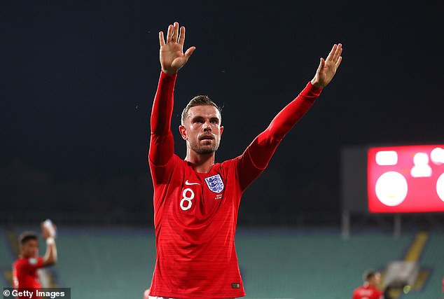 Jordan Henderson is named England