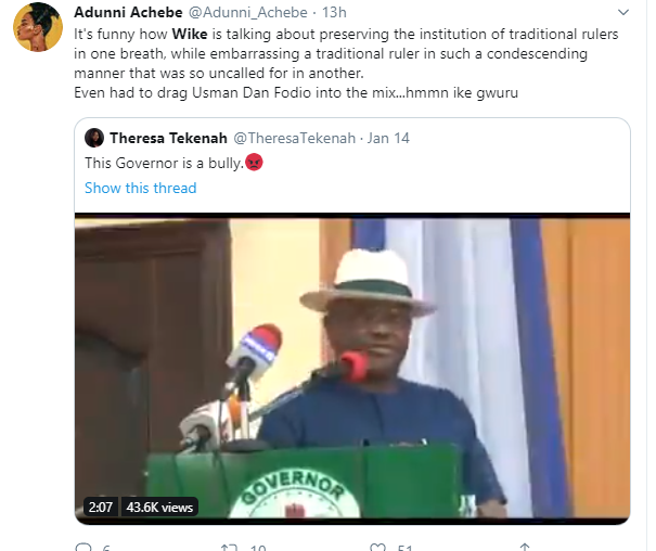 Governor Wike accused of denigrating traditional rulers in viral video