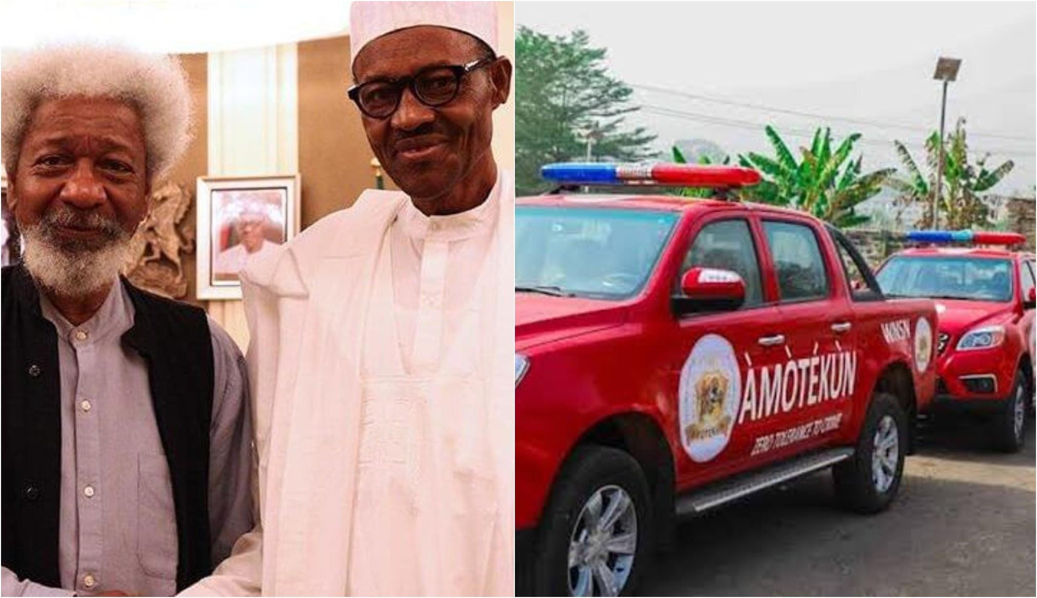 You slept while Nigerians were killed - Soyinka slams FG for outlawing Amotekun