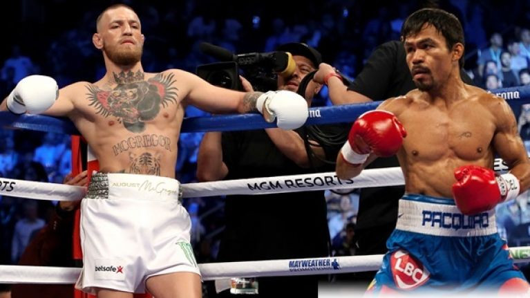 UFC star Conor McGregor reveals talks to fight boxer Manny Pacquiao are 'ongoing'