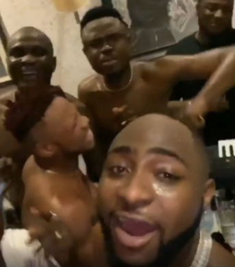 Davido leads his friends in morning devotion (video)