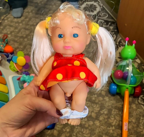World?s first transgender children?s doll with penis underneath a dress spotted on sale in toy store