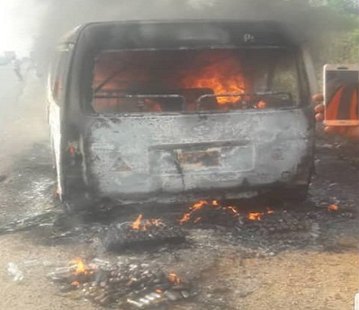 Seven adults, two children burnt beyond recognition in fatal accident in Ogun