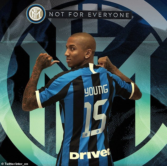 Inter Milan confirm signing of Ashley Young from Manchester United in?a??1.5million deal