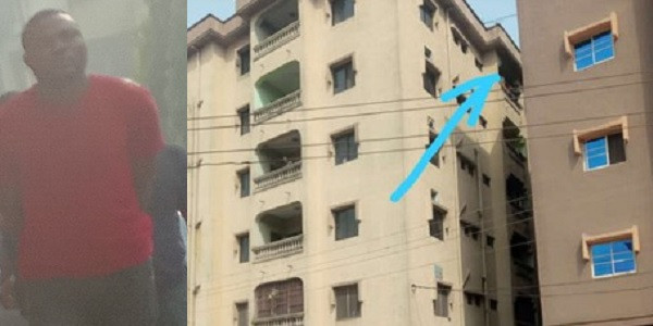 Man accused of throwing down his pregnant girlfriend from the fifth floor of their apartment in Anambra (video)