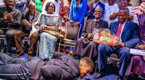 FFK blasts Anthony Joshua for prostrating before President Buhari