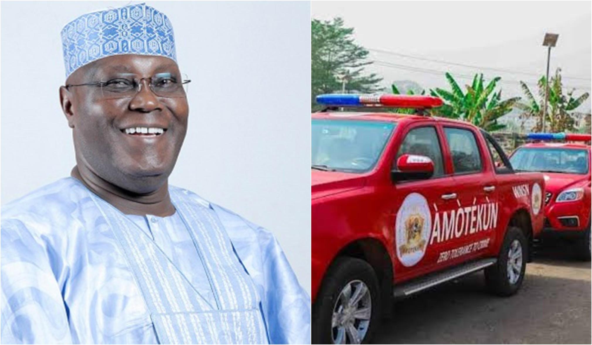 Atiku Abubakar supports establishment of Amotekun