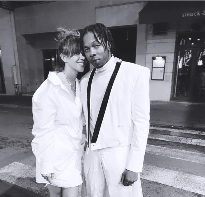 Runtown pictured at the 2020 Paris Fashion Week after getting an invite from Balmain