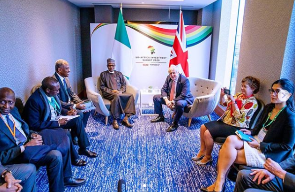 President Buhari meets UK