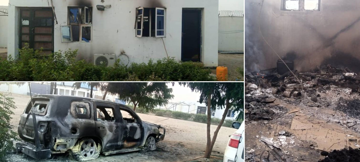 Boko Haram cuts off Maiduguri from national electricity grid, burns UN facility (photos)