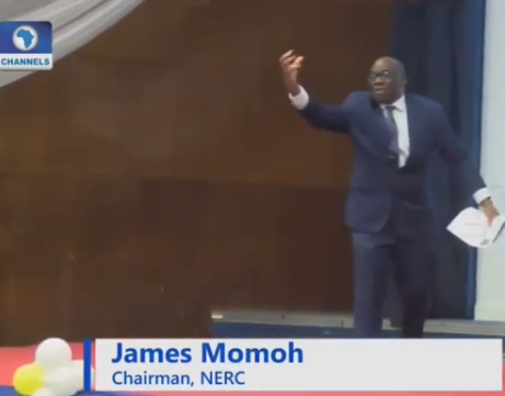 Nigerians mock Electricity Regulatory Commission boss James Momoh after he went on stage to shout ''I have a dream that Nigeria will have 24 hours power'' (video)