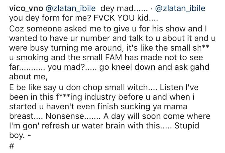 Vic O accuses Zlatan Ibile of setting him up and beating him (video)