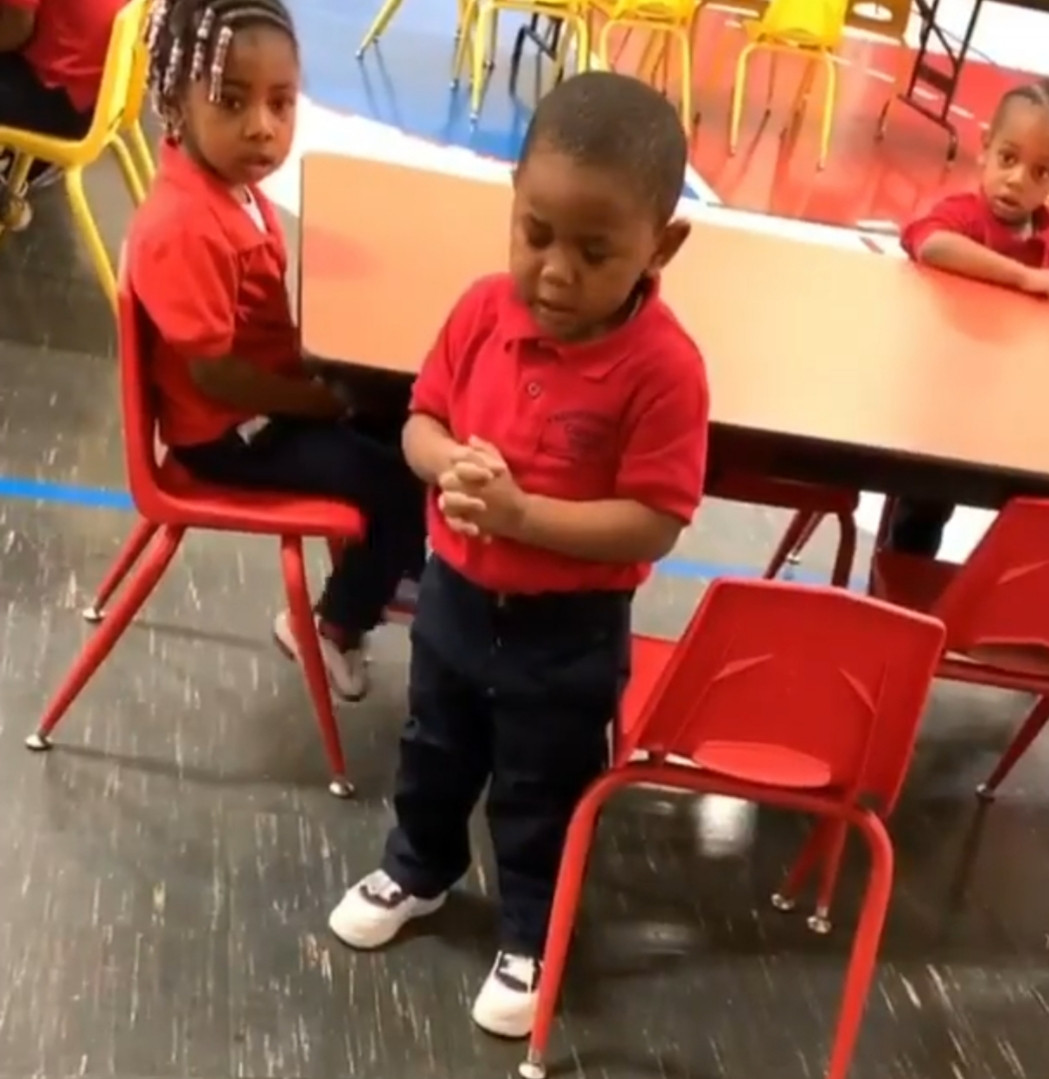 This video of a 3 year old boy praying at his lunchtime will make you smile...