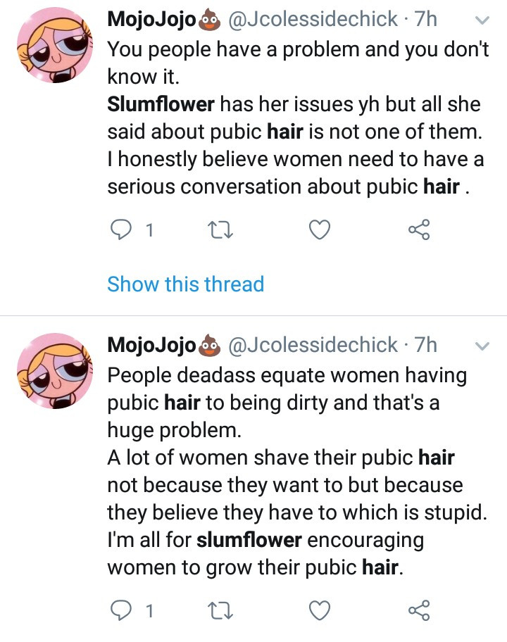 "Slumflower starts debate after sharing photos of her unshaved private part in ""Bring Back the Bush"" campaign"