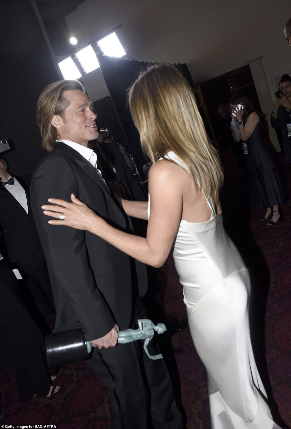 Jennifer Aniston and Brad Pitt?s friends are ?convinced they?ll get back together? after their reunion at 2020 SAG Awards