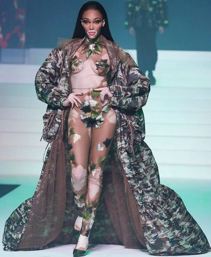Winnie Harlow is a vision to behold as she walks the runway for Jean-Paul Gaultier