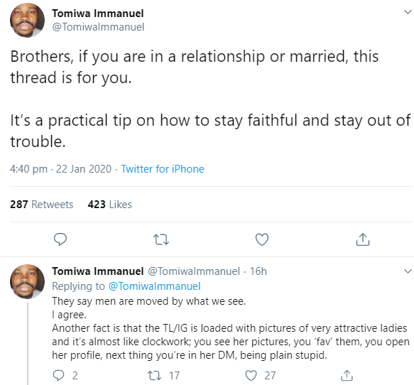 Married man advises men on actions to take to stay faithful to their spouses