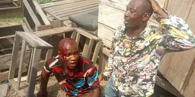 Graphic photos of two suspected robbers before and after they were burnt to death in Bayelsa