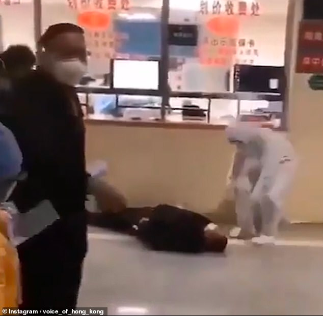 Disturbing video purportedly shows people collapsing suddenly in the streets of Wuhan due to the coronavirus
