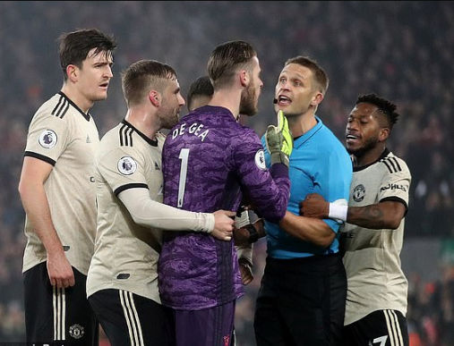 Update: Manchester United hit with £20,000 FA fine over players surrounding referee Craig Pawson during Liverpool clash