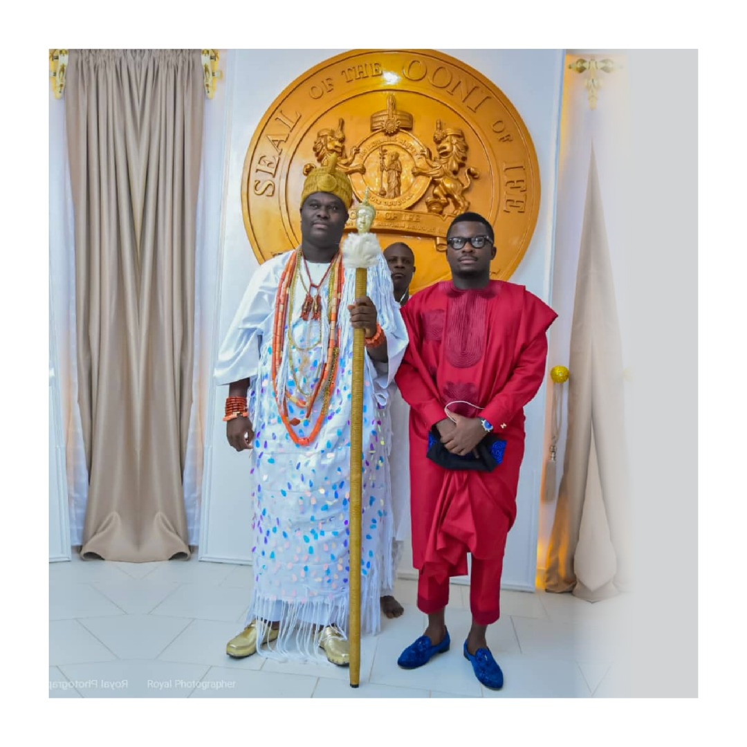 Sujimoto Receives a Royal Award From The Ooni of Ife