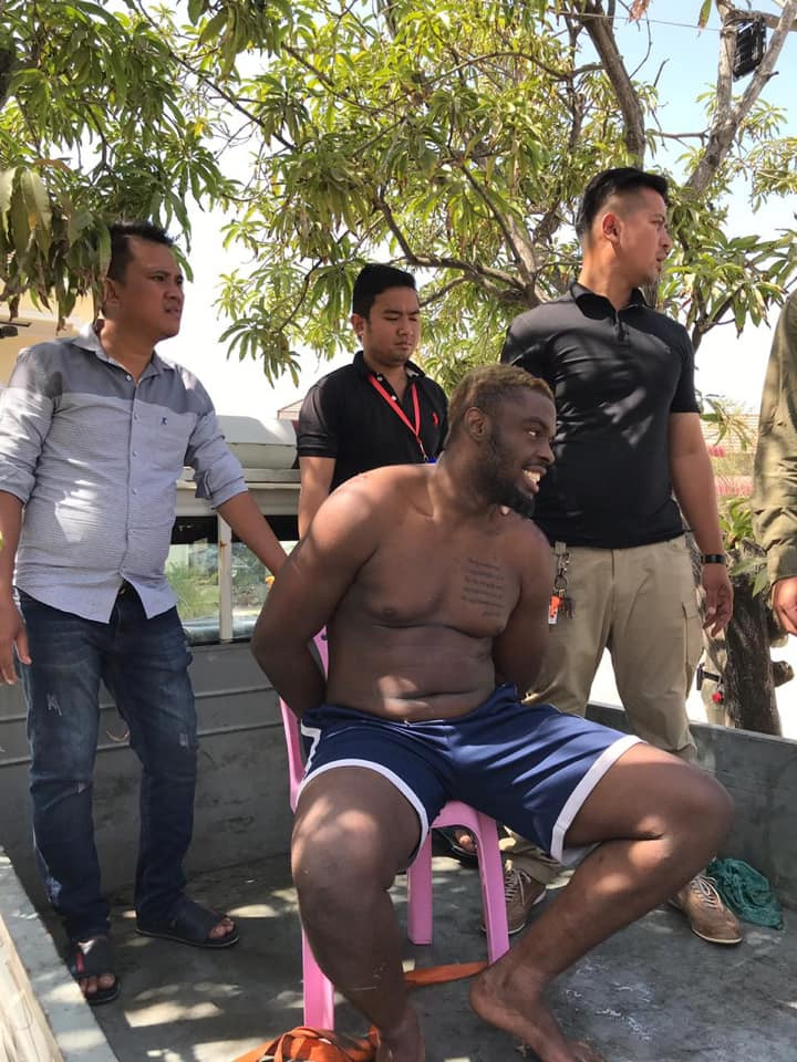 Half-naked Nigerian man arrested in Cambodia for public disturbance, illegal stay