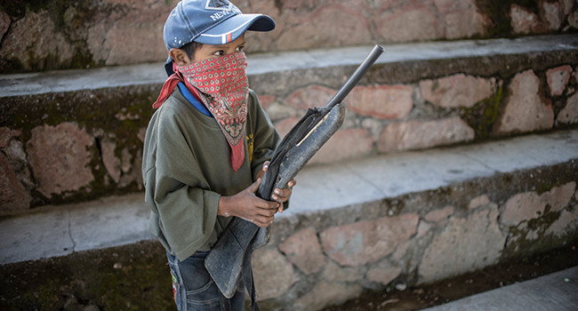 Mexican kids are taking up arms to fight drug gangs