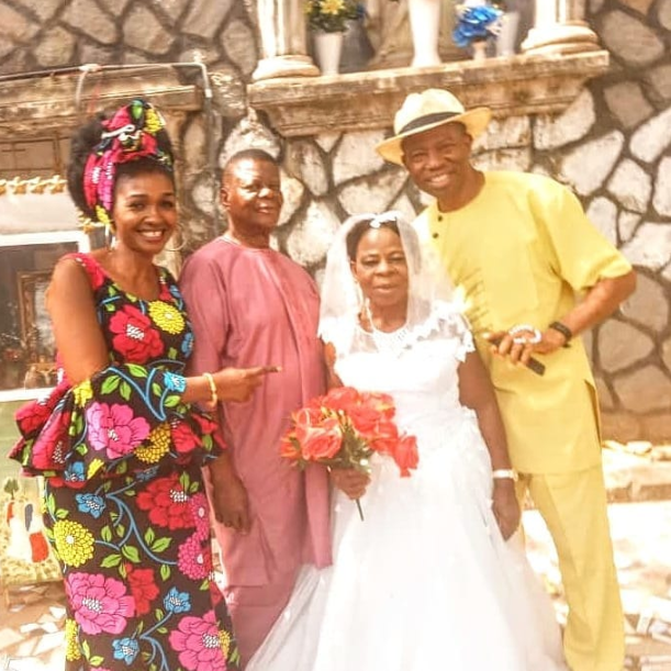 Nigerian woman in her 60s gets married for the first time (photos)