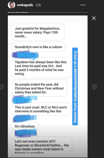 Media personality Oreka Godis discloses the horrible things that allegedly go on in the broadcast industry, including rape, unpaid salaries, and more in shocking expos?