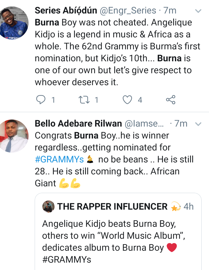 Nigerians react to Burna boy