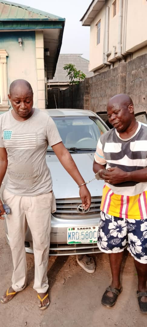 Men who specialize in stealing cars from churches arrested in Lagos