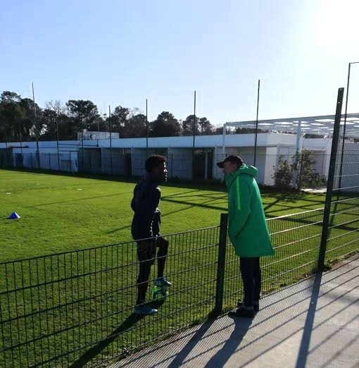 Gernot Rohr praises Super Eagles players, Samuel Kalu and Josh Maja after visiting them at his former club Bordeaux