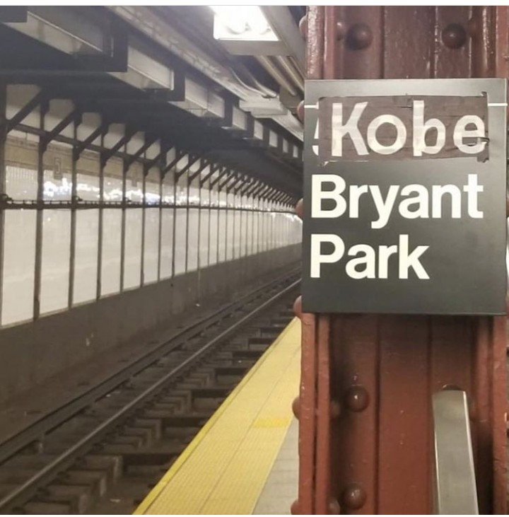 New Yorkers honour Kobe Bryant by renaming Subway stop after him
