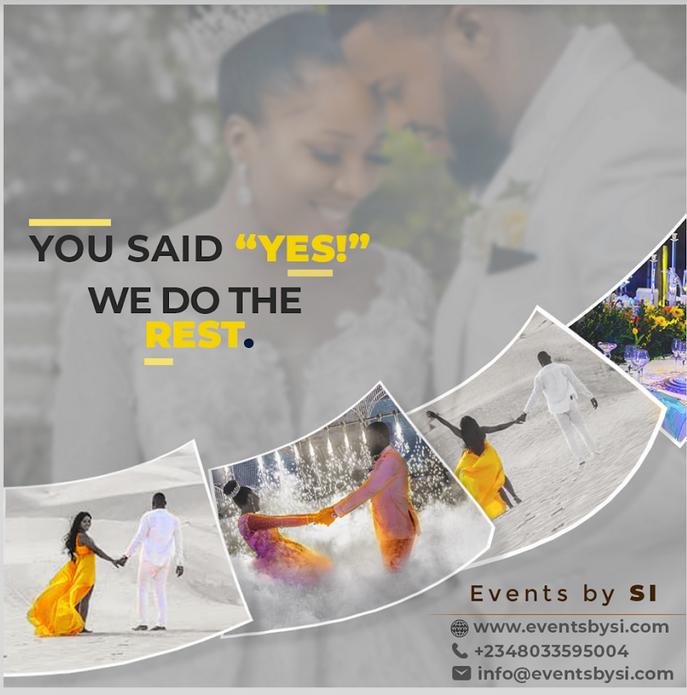You Said YES, we so the Rest... For a spectacular event, a wedding you