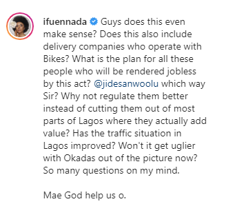 Our government hates us- Bolanle Olukanni, Ifuennada, others react to Lagos state government