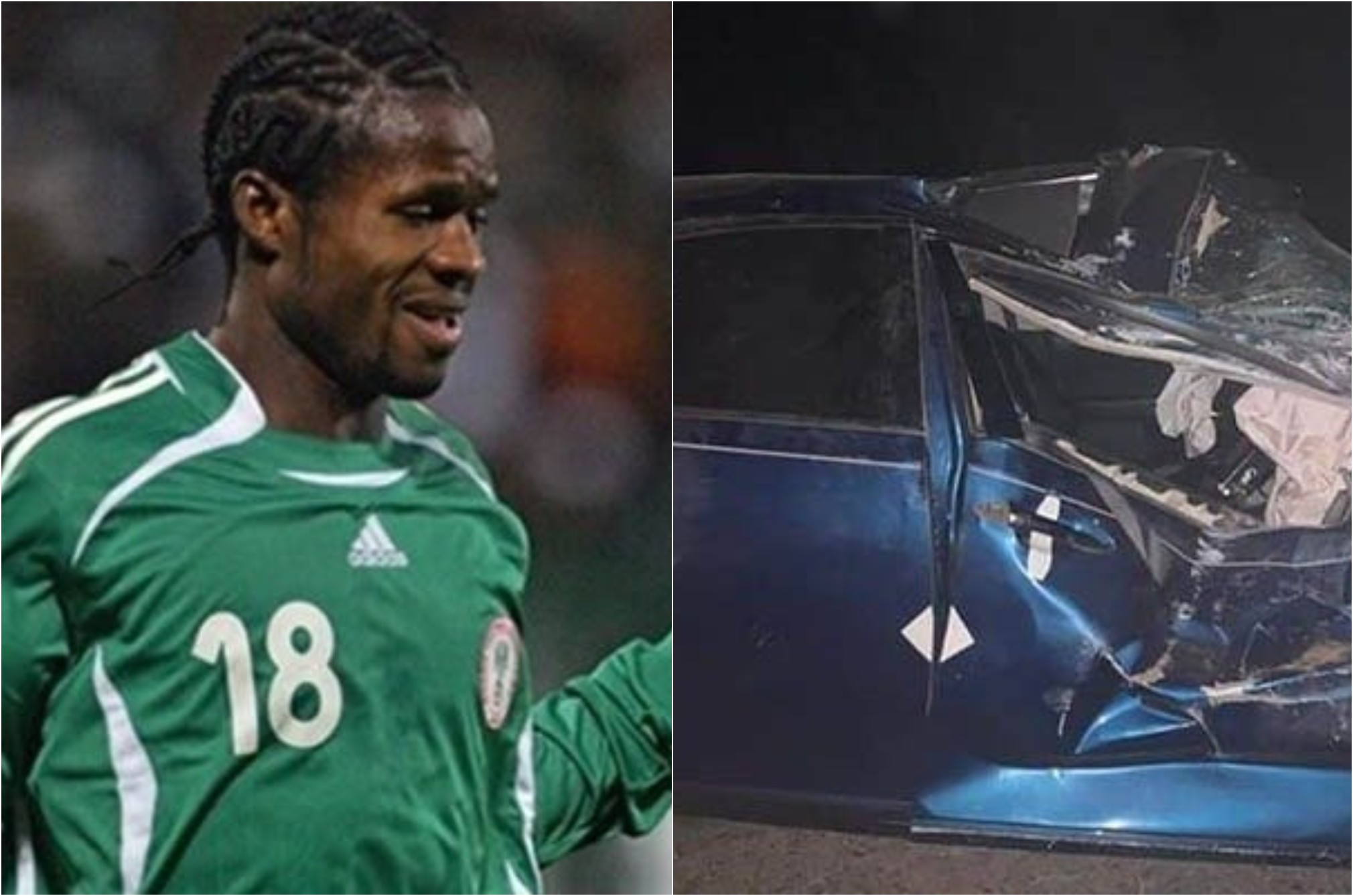 Former Super Eagles player, Christian Obodo and his mother involved in a car accident