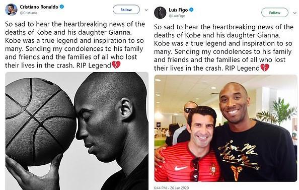 Football legend Luis Figo accused of copying Cristiano Ronaldo