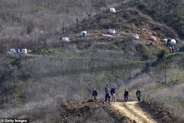 Kobe Bryant helicopter crash: California rescuers recover all nine bodies from the scene (Photos)