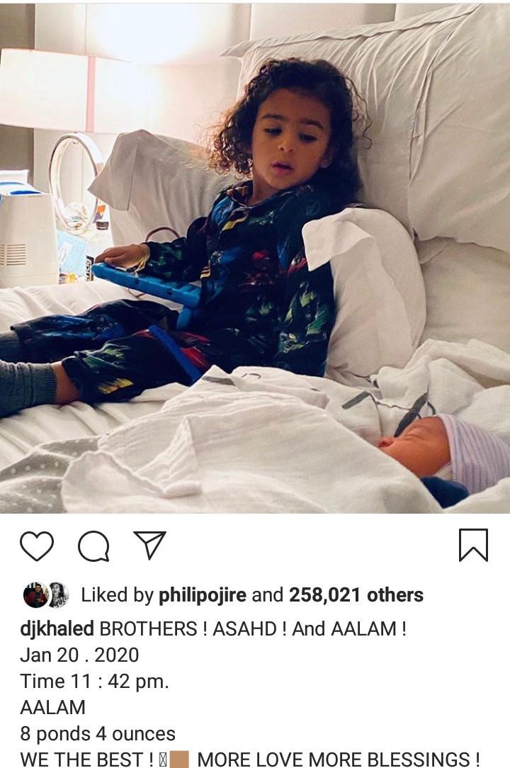 DJ Khaled shares first photo of his newborn son